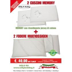 Pacchetto Cuscini + 2 Federe Multiossigen