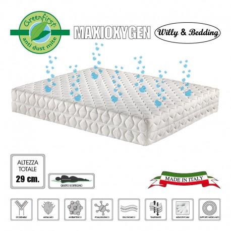 Materasso matrimoniale memory-foam MaxiOxygen, sfoderabile anallergico